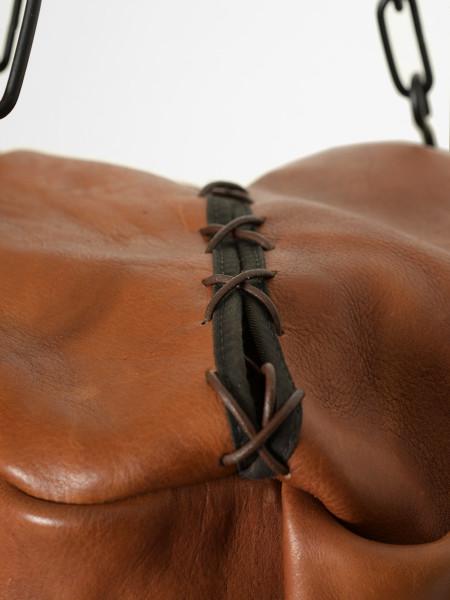 sac de frappe de boxe en cuir vintage cognac