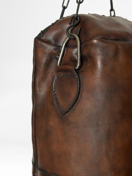 vintage leather boxing punching bag brown