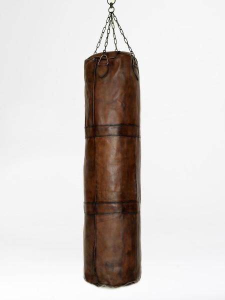 sac de frappe de kickboxing vintage en cuir marron