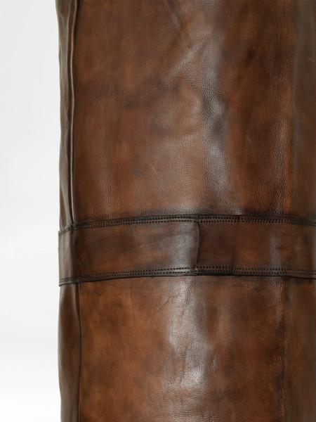 vintage leather kickboxing bag brown