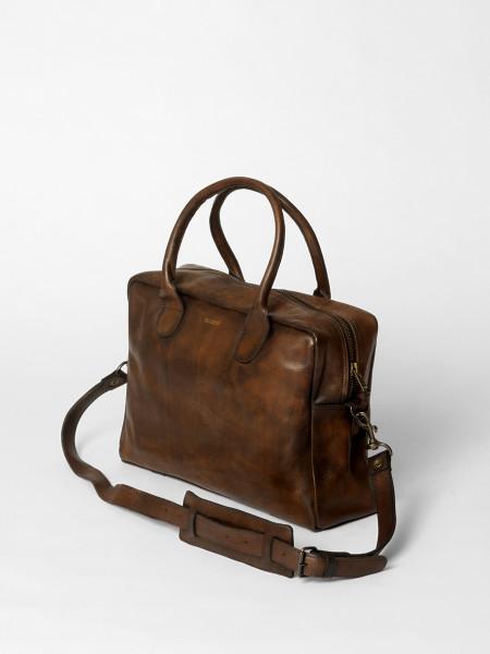 sac weekday en cuir marron