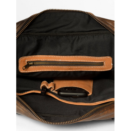 leather weekday bag brown