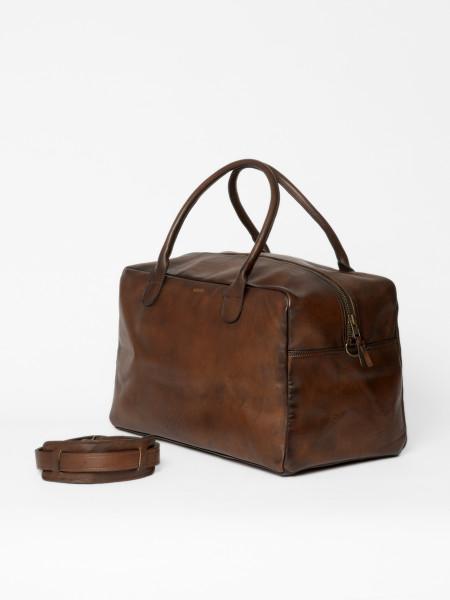 leather bag weekender brown