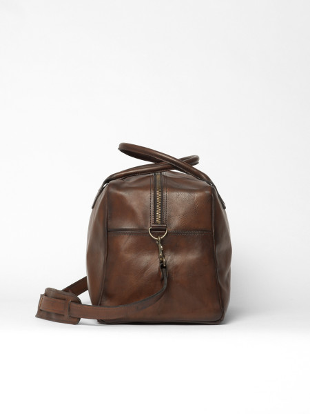 sac en cuir week-end bag marron