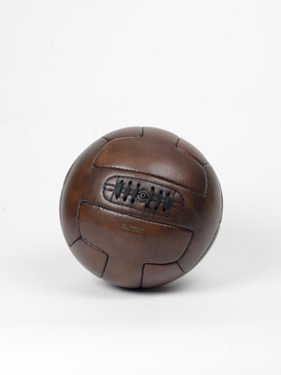 ballon de football vintage en cuir t-shape 1930