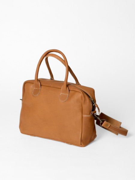 leather weekday bag natural