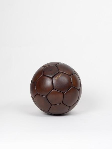 ballon de handball en cuir vintage