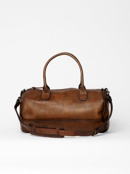 leather gym bag brown