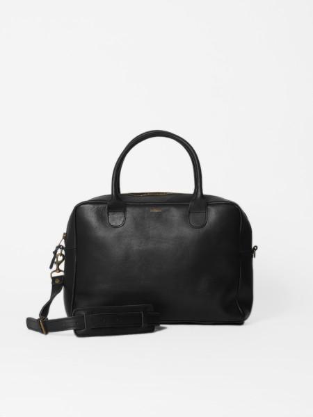 leather weekday bag black