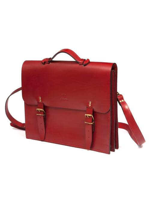 EXTENDABLE LEATHER SATCHEL