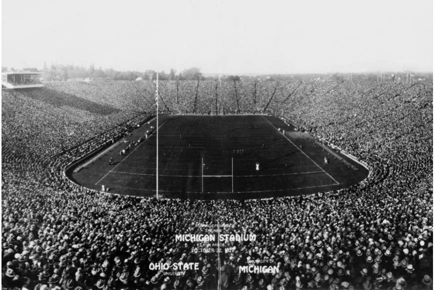 The giant stadiums of college American football