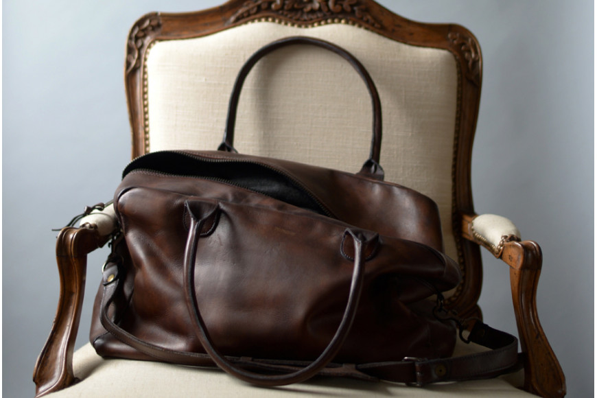 For a getaway, the Weekend Bag by John Woodbridge