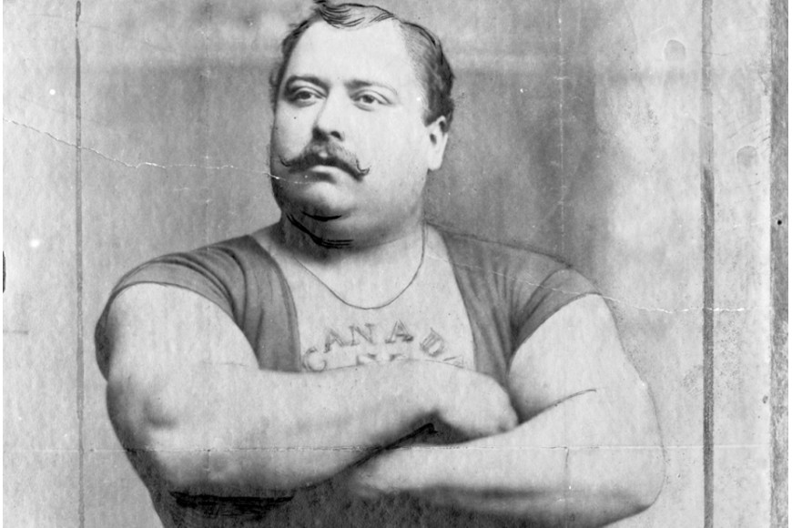 Louis Cyr, strongest man on earth