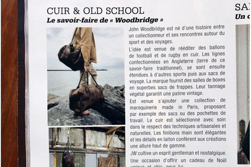 Paris Match parle de John Woodbridge