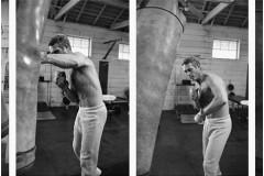Steve McQueen to the punching bag