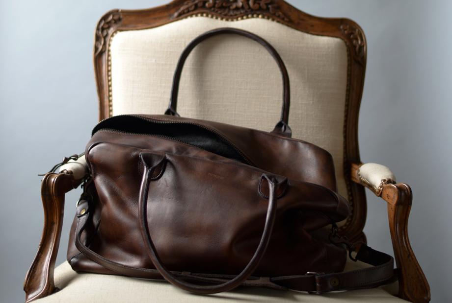 For a getaway, the Weekend Bag by John Woodbridge
