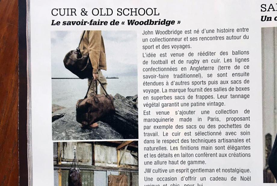 Paris Match talks about John Woodbridge
